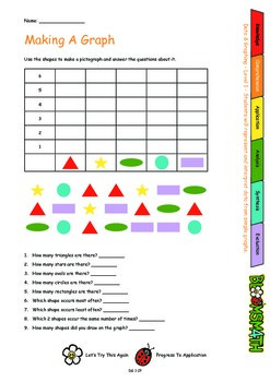 Bloomsmath Differentiated Data and Graphing Kindergarten Maths Activities