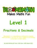 Bloomsmath Differentiated Fraction and Decimal Kindergarten Maths Activities