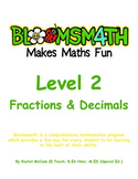 Bloomsmath Differentiated Fractions and Decimals Maths Act