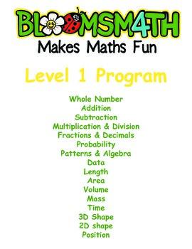 Bloomsmath Differentiated Bundle of Kindergarten Maths Activities