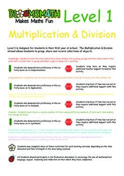 Bloomsmath Differentiated Multiplication & Division Kindergarten Maths Sheets