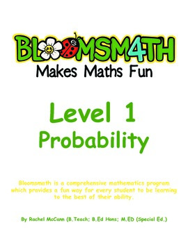 Bloomsmath Differentiated Probability & Chance Kindergarten Maths Activities