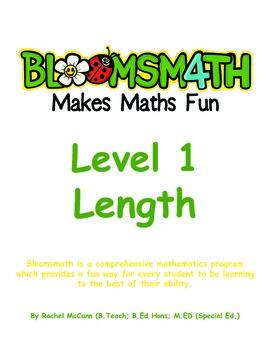 Bloomsmath Differentiated Length Kindergarten Maths Activities