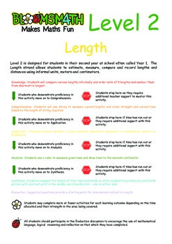 Bloomsmath Differentiated Length Maths Activities for Year 1
