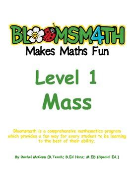 Bloomsmath Differentiated Mass Kindergarten Maths Activities