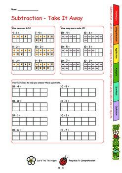 Bloomsmath Differentiated Subtraction Maths Activities for Kindergarten