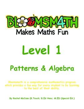 Bloomsmath Differentiated Patterns and Algebra Kindergarte
