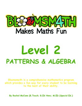 Bloomsmath Differentiated Patterns and Algebra Maths Activ