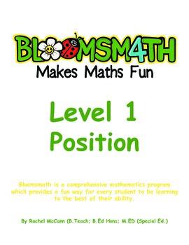 Bloomsmath Differentiated Position Kindergarten Maths Activities