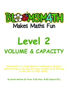 Bloomsmath Differentiated Volume and Capacity Maths Activities for Year 1