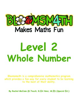 Bloomsmath Differentiated Whole Number Maths Activities for Year 1