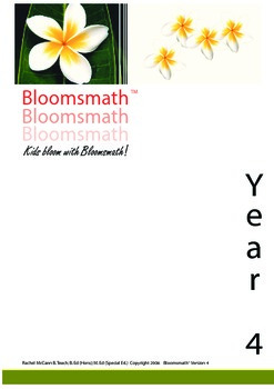 Bloomsmath Original Year 4 Differentiated Maths Program