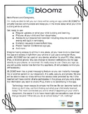 Bloomz Editable Parent Letter in both English & Spanish