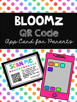 Bloomz QR Code Card for Parents