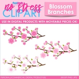 Blossom Branches Flower Clip Art (Digital Use Ok!)
