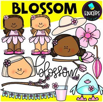 Blossom Clipart Set {Educlips Clipart}