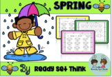 K Blossoming Spring Math Path (add or subtract to color by code)