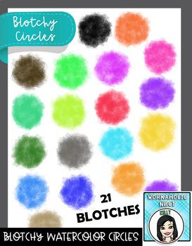 Blotchy Watercolor Circles
