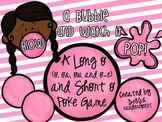 Blow a Bubble and Watch It Pop! {Long o and Short o Poke Cards}