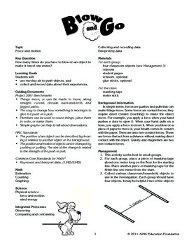AIMS Activity: Blow and Go