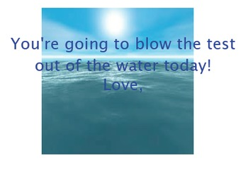 Blow the test out of the water!