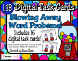 BOOM Cards: Blowing Away Word Problems! (TEKS 1.3B)