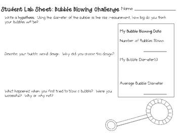 Blowing Big Bubbles ~ Monthly School-wide Science Challenge ~ STEM