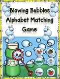 Blowing Bubble Alphabet Matching Aa
