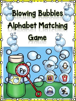 Blowing Bubble Alphabet Matching Game Pp