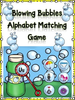 Blowing Bubble Alphabet Matching Game Uu