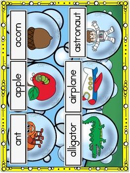 Blowing Bubbles Alphabet Matching Game Aa Thru Zz BUNDLE