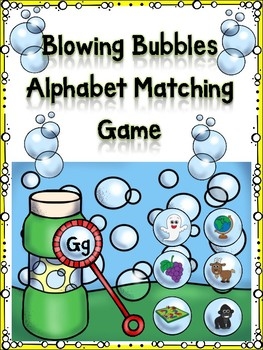 Blowing Bubbles Alphabet Matching Game Gg