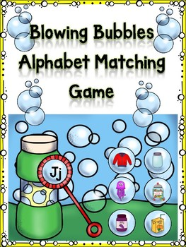 Blowing Bubbles Alphabet Matching Game Jj