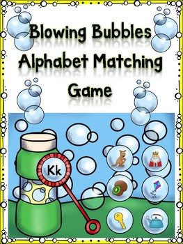 Blowing Bubbles Alphabet Matching Game Kk