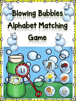 Blowing Bubbles Alphabet Matching Game Ll