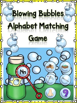 Blowing Bubbles Alphabet Matching Game Nn