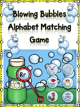 Blowing Bubbles Alphabet Matching Game Rr
