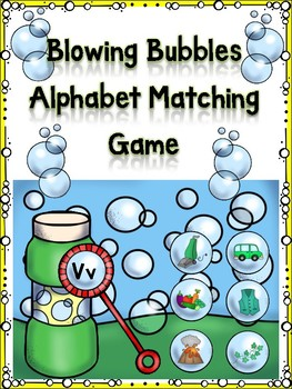 Blowing Bubbles Alphabet Matching Game Vv