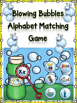 Blowing Bubbles Alphabet Matching Game Xx