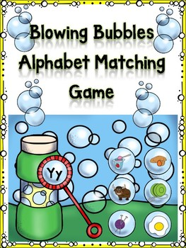 Blowing Bubbles Alphabet Matching Game Yy