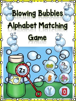 Blowing Bubbles Alphabet Matching Game Zz