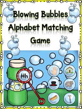 Blowing Bubbles Alphabet Matching Letter Hh