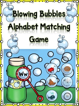 Blowing Bubbles Alphabet Matching game Ww
