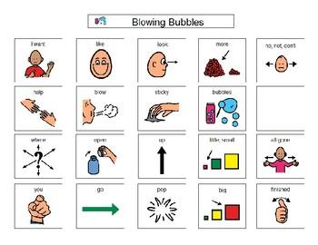 Blowing Bubbles - Boardmaker