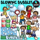 Blowing Bubbles Clip Art Bundle {Educlips Clipart}