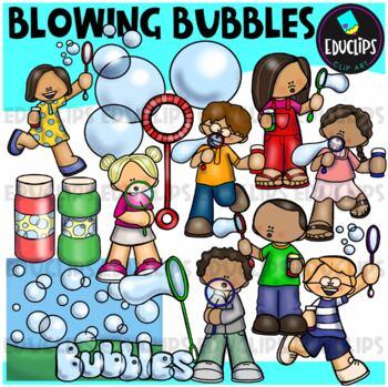 Blowing Bubbles Clip Art Bundle {Educlips Clipart}