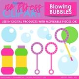 Blowing Bubbles Clip Art Pink Set (Digital Use Ok!)