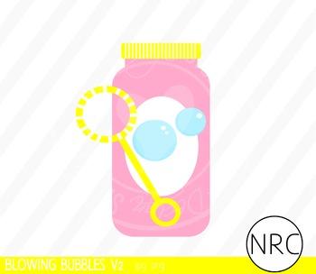 Blowing Bubbles Clip Art V2 - Commercial Use Clipart