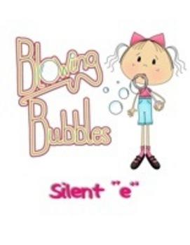 "Blowing Bubbles Folder Game- Silent ""e"""