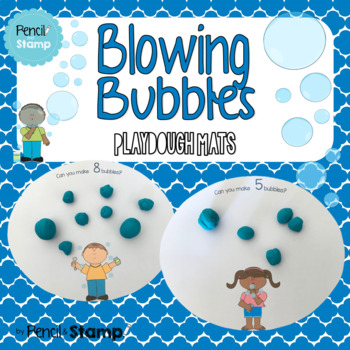 Blowing Bubbles- Number Recognition - Playdough Mats
